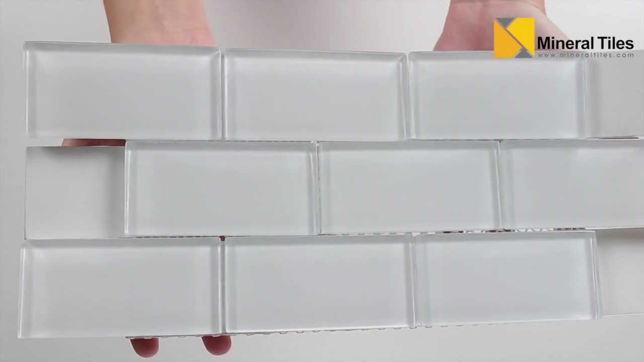 - Subway Glass Tile Simplicity White 2x4 - 120KEPWG24 - YouTube