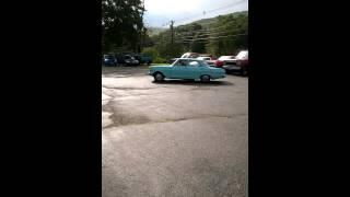1963 chevy ii 4 door burnout