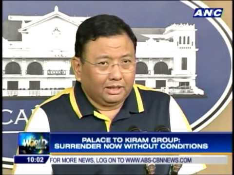 Palace to Kiram Group: Surrender without conditions