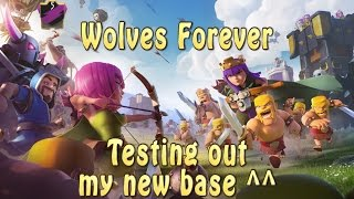 Testing new base | Th8 | Clash Of Clans
