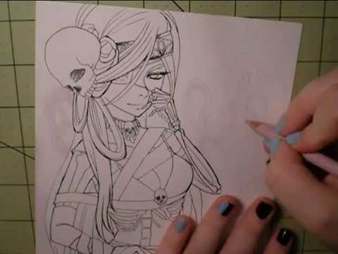 Real Time Drawing: Lady Ghost Part1