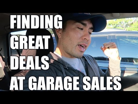 FINDING GREAT DEALS AT GARAGE SALES!