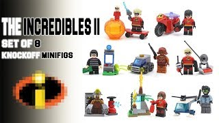Lego The Incredibles 2 Bootleg Minifigures by Kopf