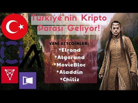 Türkiye'nin Kripto Parası Geliyor! Yeni Altcoinler; Elrond   Algorand   MovieBloc   Aladdin   Chiliz