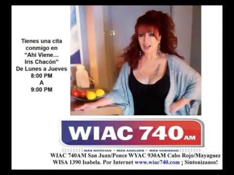 Iris Chacon nuevo programa de Radio Por WIAC 740AM