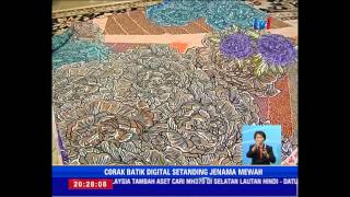 #KRAFKITA - BATIK CETAKAN DIGITAL  [6 Jul 2014]