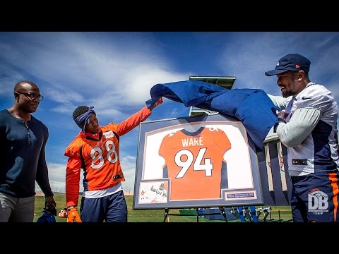 Ware returns to Broncos practice as special guest