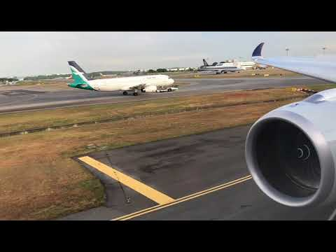 Singapore Airlines, Airbus A350-900XWB,Business Class , SQ632,9V-SMS,Takeoff from Changi Airport