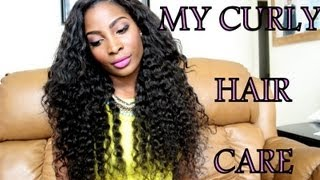 How I care for my curly hair weave (daily routine)
