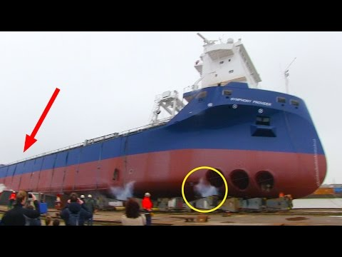 Ship Launch Gone Wrong: SYMPHONY PROVIDER stuck on slipway