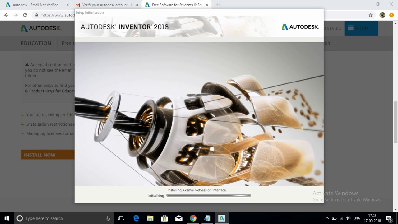 How to download and install autodesk Inventor 2018 student version (  license for 3 years free)