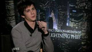LOGAN LERMAN ANS PERCY JACKSON & THE OLYMPIANS INTERVIEW