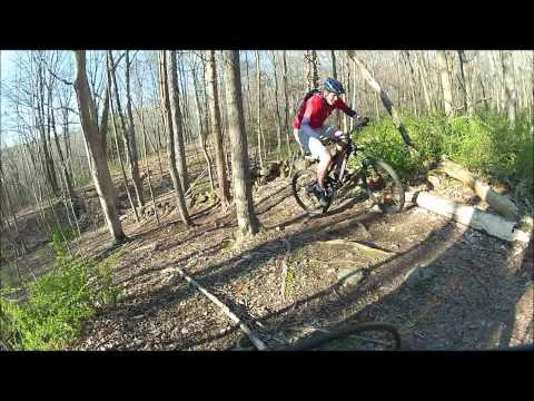 Mountain biking at Tyler Mill in Wallingford CT 4-2-2012.wmv