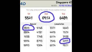 Singapore Pools 4d prediction Formula 100 percent working Today 4d Prediction