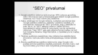 Reklama internete. Google AdWords ir SEO palyginimas(, 2014-11-17T18:38:56.000Z)