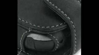 PDair Leather Case for Eten G500 - Flip Type (Black)
