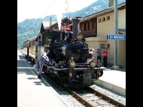 060 With the Breithorn to the Matterhorn - BVZ Steam - Stunning film of little steam engine