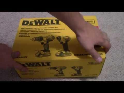 Dewalt Dck240c2 20v Lithium Drill Driver Impact Combo Kit Unboxing Youtube