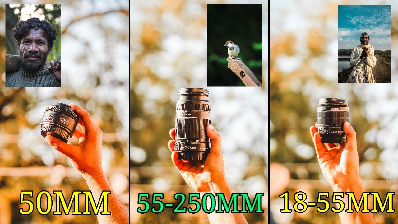 WHICH LENS TO BUY? | CANON 50MM 1.8 | 55-250MM | CANON 18-55MM