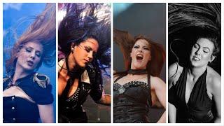 Simone Simons, Alissa White-Gluz, Floor Jansen & Elize Ryd headbanging on The Haunting (Kamelot)