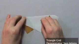 Origami Tessellation Basics: Triangle Grid