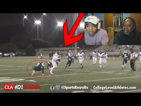 Dad Reacts To Crazy Highschool Football Ankle Breakers!