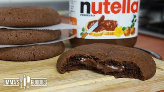 Soft Nutella Cookie Recipe ( Creamy Nutella Filling)