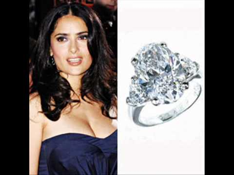 Salma Hayek Engagement Ring Youtube
