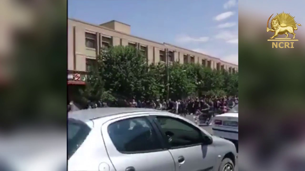 Protests against Iran's regime in Isfahan on August 2