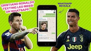 Cristiano Ronaldo texting Leo Messi on WhatsApp... - Oh My Goal
