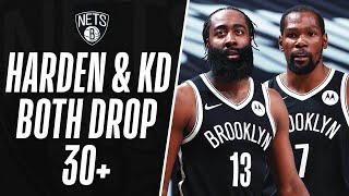 KD & Harden Combine For 42 Of Their 64 In The 2nd Half To Power The Nets 🔥