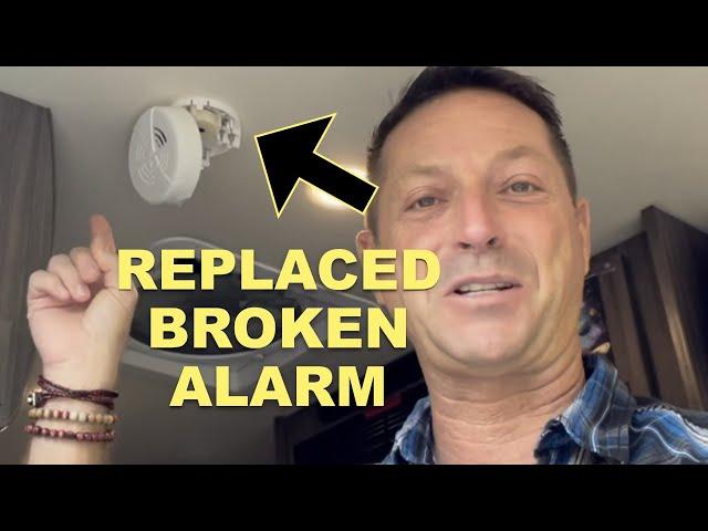 SMOKE 🔥 ALARM GOING OFF INSIDE Winnebago Travato. WHY? REPLACED smoke detector. Simple RV 🚐 repair.