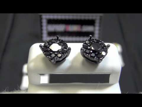 Solitaire Cluster Custom Bling Bling CZ Lab Made Diamond Earrings