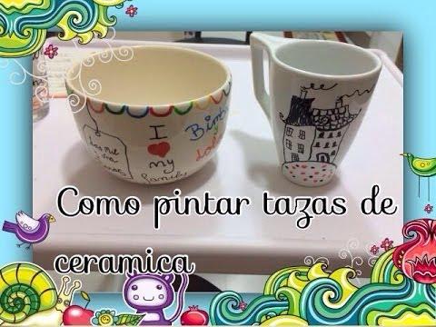Pintar Tazas De Ceramica Cristal Painted Ceramic Cups Diy