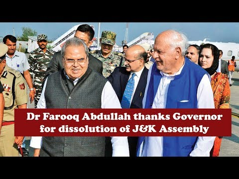 Farooq Abdullah welcomes Governor Decision