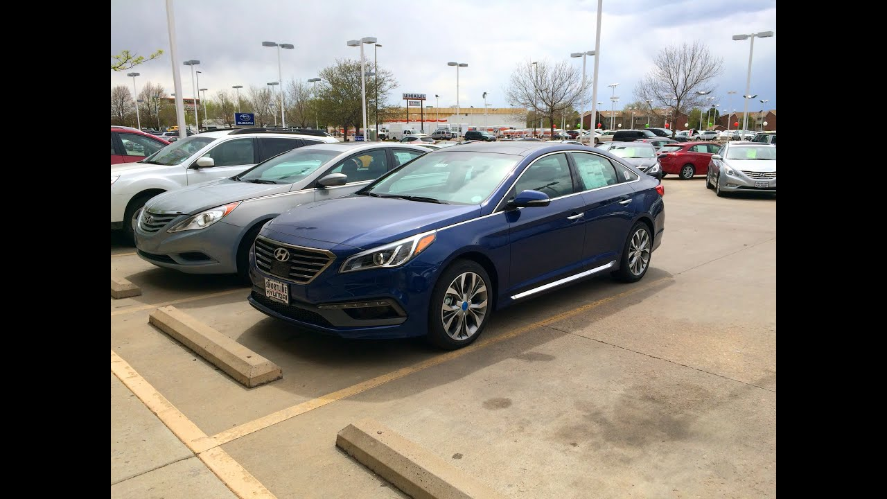 2015 hyundai sonata sport 2 0t limited start up in depth tour and review youtube. Black Bedroom Furniture Sets. Home Design Ideas