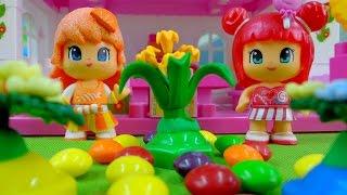 Мультики: Апельсинка и Конфетка - Красивые клумбы! Детям про цветы