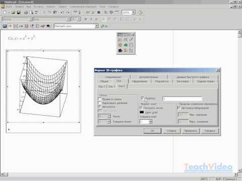 Форматирование трехмерного графикав MathCAD 14 (16/34) Часть 2