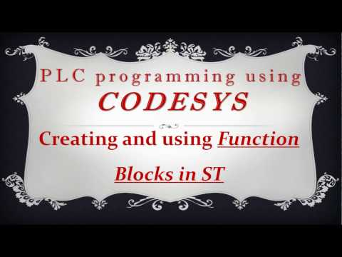 CODESYS: Creating and using function blocks in Structured Text (ST)
