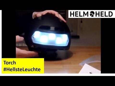 fahrradhelm mit licht torch youtube. Black Bedroom Furniture Sets. Home Design Ideas
