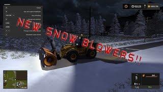 Farming sim 17 New SNOW BLOWERS!!!