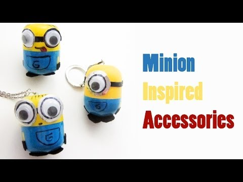 "How to make  ""Despicable Me"" - ""Minion inspired accessories""  - Recycling - EP - simplekidscrafts"