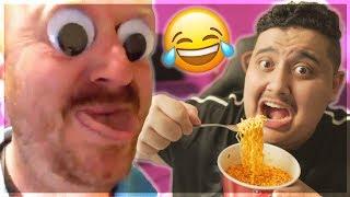 تحدي الضحك ! ( اذا ضحكت تأكل احررر اندومي فالعالم 😂🔥 )