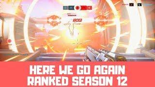 HERE WE GO AGAIN - Overwatch Ranked Season 12 Gameplay