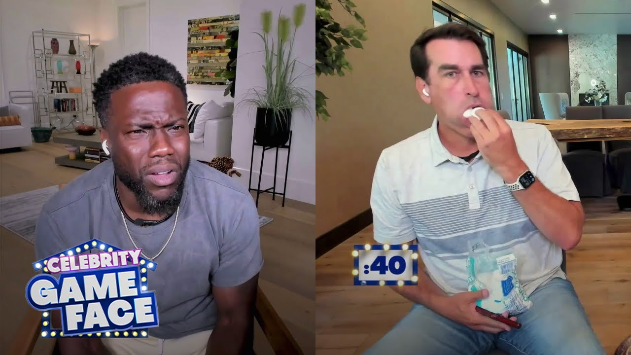 Watch Rob Riggle Lose it Playing Chubby Bunny | Celebrity Game Face