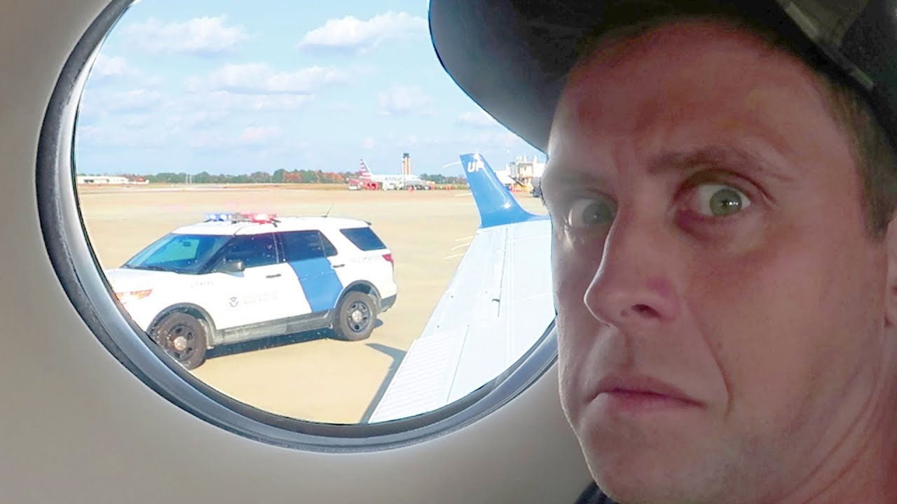 pulled-over-in-private-jet