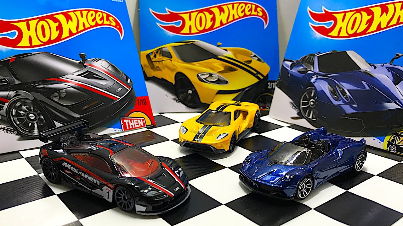 Unboxing New Hot Wheels McLaren F1 GTR, Pagani Huayra Roadster, and