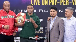 THE FULL ERROL SPENCE JR VS. MIKEY GARCIA FINAL PRESS CONFERENCE AND FACE OFF VIDEO