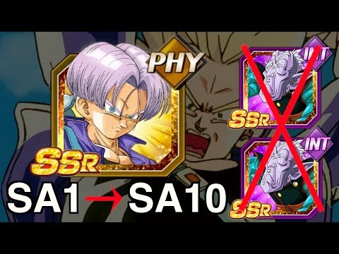 SA1 TO SA10 - PHY LR TRUNKS! NO ELDER KAIS NEEDED! Dragon Ball Z Dokkan Battle! (DBZ)