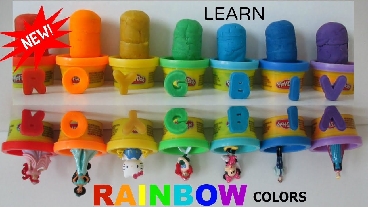 Rainbow colors in order pictures - Let S Learn Order Of The Rainbow Colors Play Doh Video Kinder Surprise Toys